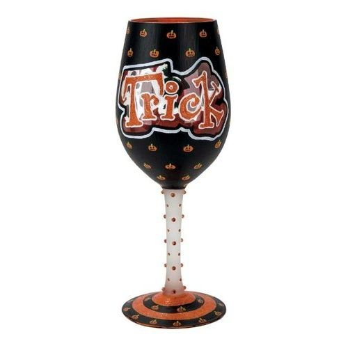 Trick or Treat, Too Wine Glass By Lolita