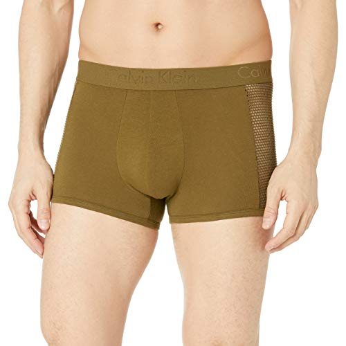 affordable Calvin Klein Men's Underwear Body Mesh Trunks, Rifle Green, Medium