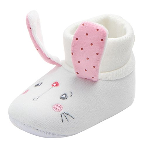 Annnowl Baby Sock Top Slipper Booties with Non Skid Bottom (12-18 Months, -