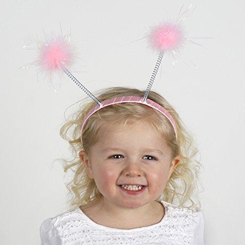 Zucker Feather (TM) - Marabou Antenna Headband w/Lurex Candy Pink/Opal Lurex