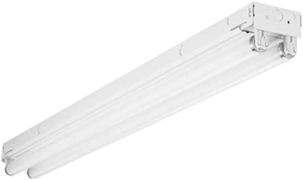 Lithonia Lighting 3 ft 2-Light Gloss White T8 Fluorescent Strip Light