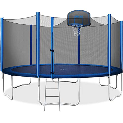 Merax-15-FT-Trampoline-with-Safety-Enclosure-Net-Basketball-Hoop-and-Ladder-2019-Upgraded-Kids-Basketball-Trampoline