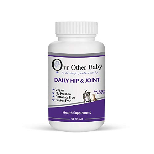 (Our Other Baby Daily Hip and Joint Health Supplement – Pet Vitamins for Hips, Joints, and Bone Support – 60 Supplementary Tabs for Dogs & Cats – Total Pet)