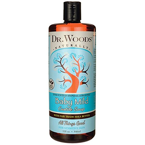 Dr.Woods Products Baby Castile Soap with Shea Butter, Shea Butter 32 Oz Sylvia's Food Products 2890