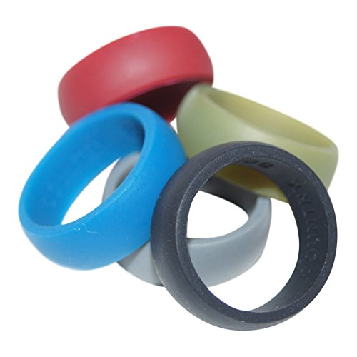 Silicone Wedding Ring 5 Pack By Country Bound, Premium