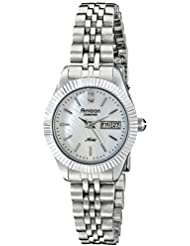 Armitron Womens 75/5201MPSV Diamond-Accented Silver-Tone Bracelet Watch