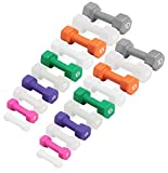 CAP Barbell SDN4 Colored Neoprene Hex Dumbbell Set - 2, 4, 6, 8, 10 lbs (5 pairs) - For Aerobic Workouts and Rehabilitation