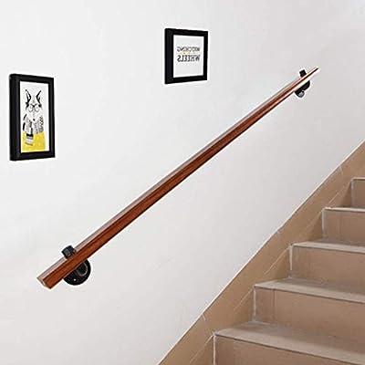 Corredor de apoyo de Rod, antideslizante de madera de escalera Baranda, con el acero inoxidable Montes, hogar contra la pared interior del desván Barandas de edad avanzada (Size : 30cm): Amazon.es: Bricolaje