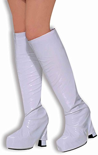 Women's White 60s Go Go Costume Boot Tops