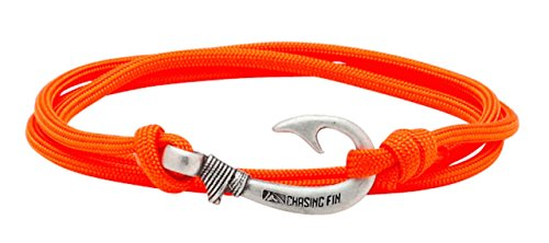 Chasing Fin Adjustable Circle Fish Hook Bracelet (Burnt Orange)