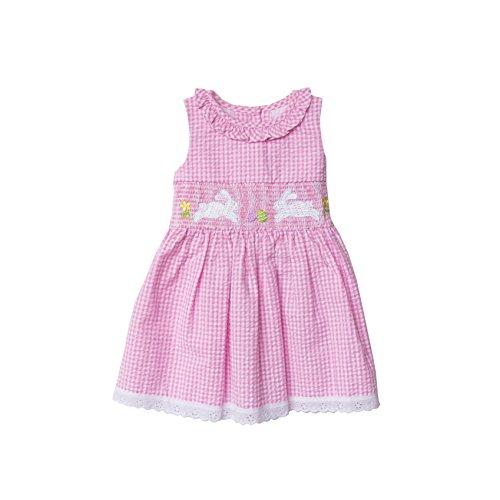 Good Lad Pink Seersucker Bunny Smocked Dress (Pink Seersucker Dress)