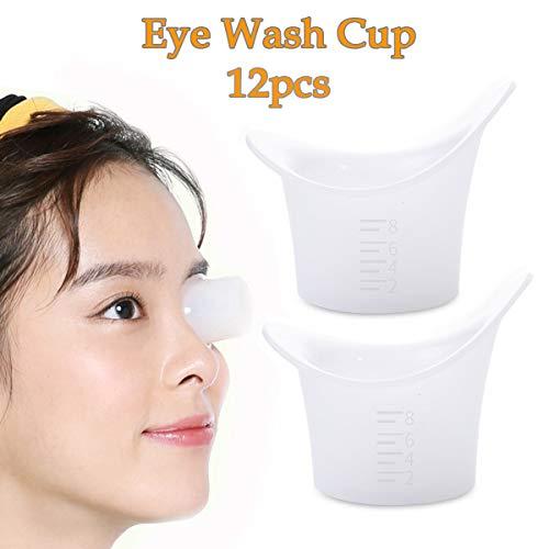 PorporBooya Eye Bath Silicone Eye Wash Cup Set of 12 for Refresh and Clean Tired Eyes