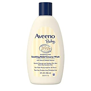 Aveeno Baby Soothing Relief Creamy Wash with Natural Oatmeal for Dry, Sensitive Skin, 8 fl. oz