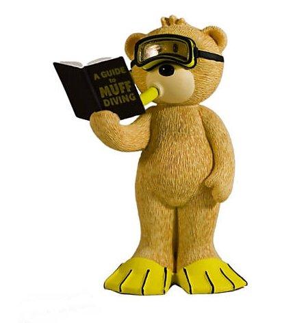 Alec Muff Scuba Diving Bad Taste Bear Figurine