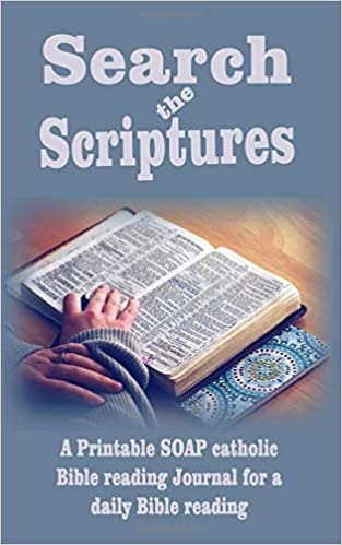 picture about Bible Study Journal Printable named Look the scriptures: A printable Cleaning soap catholic Bible