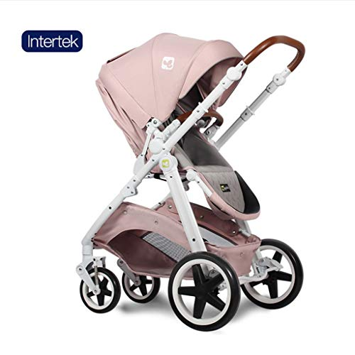 ☝YEC Two-Way Stroller, Three-in-one Cart Handle Adjustment Large Storage Basket Pram Pushchair (Color : G)