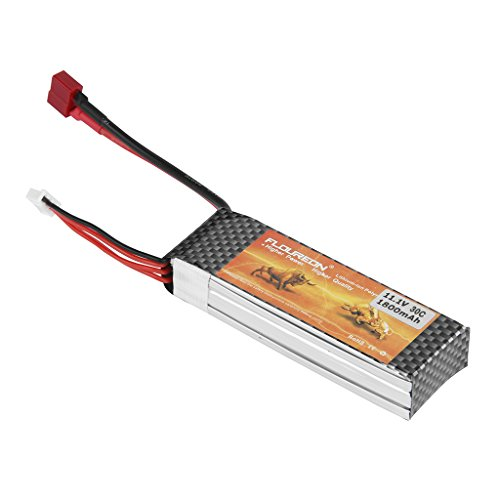 FLOUREON 3S 11.1V 1800mAh 30C Lipo RC Battery with Deans T Plug for RC Car, Truck, Airplane, Helicopter, RC Boat, UAV FPV Drone and More