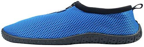 Enimay Männer und Frauen Slip auf Kordelzug Strand Sommer Urlaub Wassersport Aqua Schuh Blau |