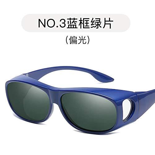 de Plein Miroir de Miroir Burenqiq green Miroir Conduite Lunettes air de Hommes polarisé Soleil frame Sports Blue 8qxYqdIt