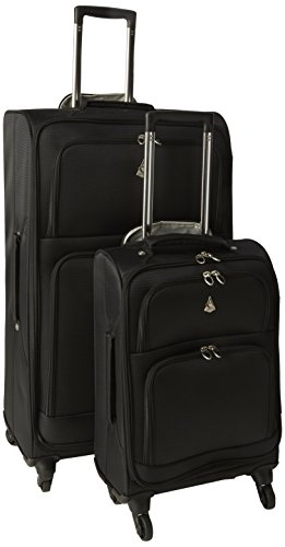 Aerolite The London Collection Juego de maletas Aerol9975 21/29 Black, 75 cm, 105 L, Negro