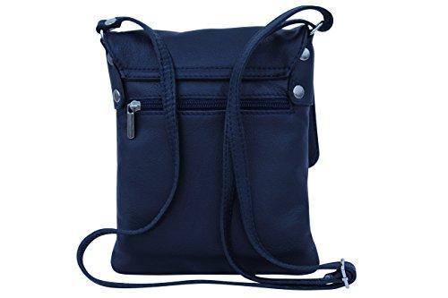 nbsp;bandolera de marino piel azul italiano AMBRA de bolso – napa piel Bolso NL602 de hombro Moda de mujer pequeño nbsp;para wqtHxAzq