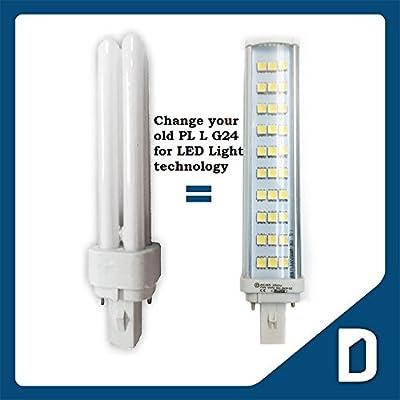 PL L SMD5050 LED Bulb - 7W - G24 - Natural White - Spotlight Lighting Tube -Replace PL G24 26W Fluorescent Lamp