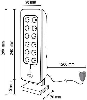 Pas de filtres /à changer Id/éal pour chambres Ioniseur dair pour pi/èce de 30m2 TeqAir200 Purificateur dair silencieux et discret Anthracite Consommation /électrique quasi nulle