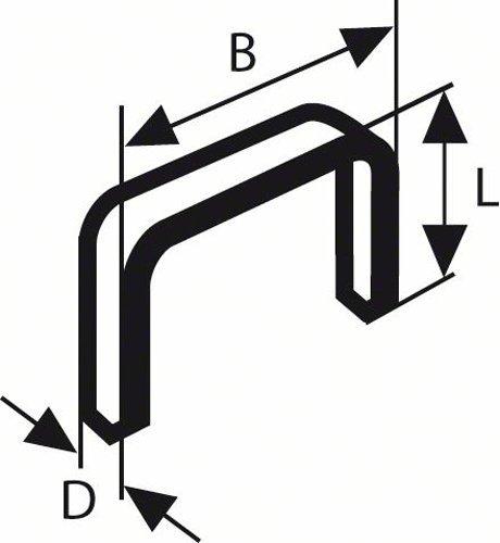 Bosch 2609255845 DIY Klammern Typ 57 10.6 x 1.25 x 6 mm