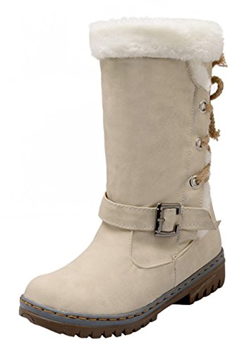 5 Eozy Warm Ladies Snow ENLARGING Boots Anti 5UK and Winter Size Boots Size38 Skid Beige rn7rqB0aw