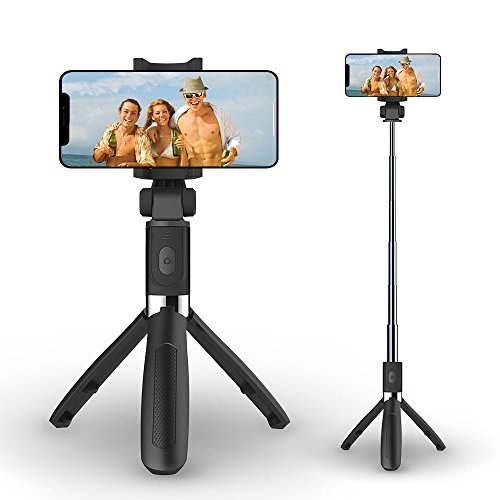 Selfie Stick Tripod with Bluetooth Wireless Remote,Ausemku Extendable Cell Phone Stand, Portable Monopod for iPhone X/iPhone 8/8 Plus/iPhone 7/iPhone 7 Plus/Galaxy S9/S9 Plus/Note 8/S8/S8 Plus/More