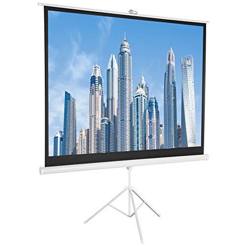 AmazonBasics 84 Inch 4:3 Portable Projector Screen – White