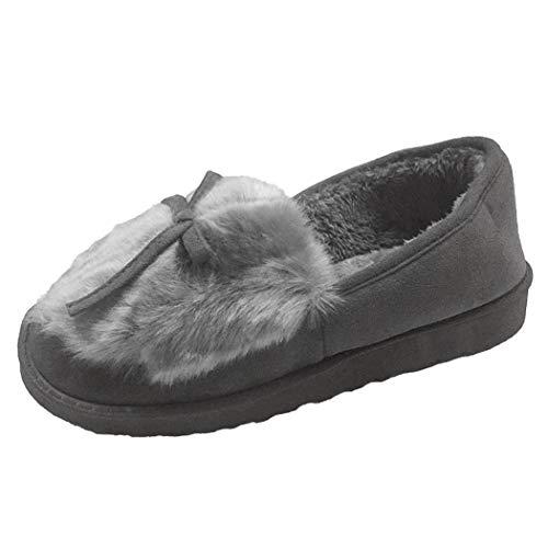 Chambre Donad Chaussettes De Maison Belles D'hiver L'intérieur Coton Casual Pantoufles À Gris Femmes Bottes Chaussures Doux Chaud rOwrB
