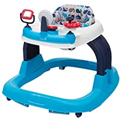 Make your child's first steps easier with the Safety 1st Ready, Set, Walk! 2.0 Developmental Baby Walker with Activity Tray. Along with a wide extra-stable base, this adjustable baby walker features three different height settings to provide ...