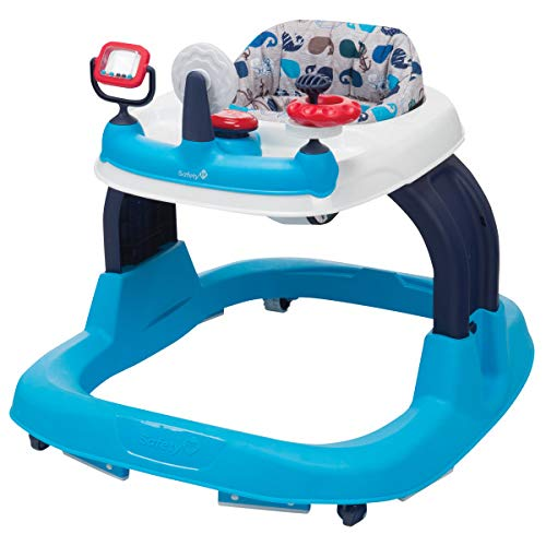 Safety 1st Ready, Set, Walk! 2.0 Developmental Baby Walker with Activity Tray (Nantucket ()
