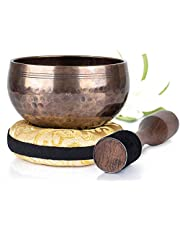 Tibetan Singing Bowl Set ~ Easy to Play with Cushion & New Dual-End striker for Sound Healing ~ BA Series