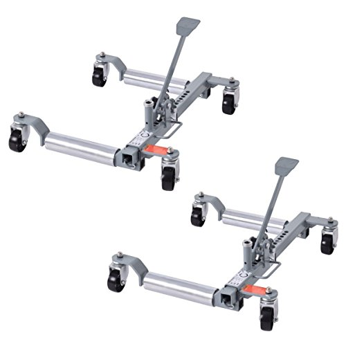 Goplus Wheel Dolly Car Skates Vehicle Positioning Hydraulic Tire Jack, 1250 lb, Set of 2 by Goplus
