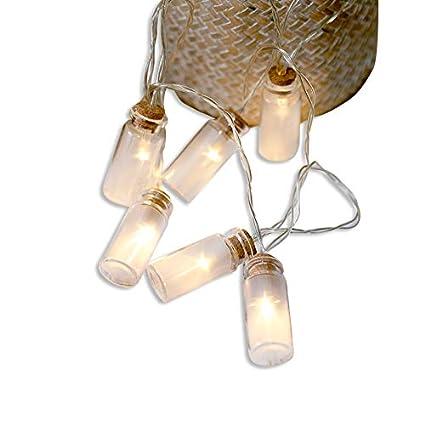 ZONYEO 20 llevada deseando vidrio claro luces de cadena frasco de botella de la vendimia transparente