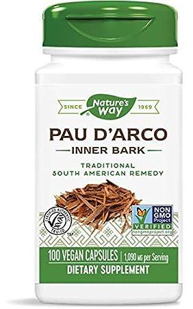 Pau dArco interior de la corteza, 545 mg, 100 Cápsulas ...