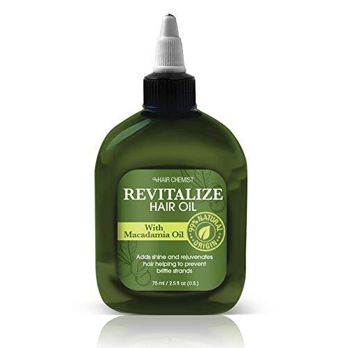 Oil Revitalizing Hair (Hair Chemist Moisturizing & Revitalizing Hair Oil With Macadamia Oil - For Adding Shine, Rejuvenating Dry or Damaged Hair 2.5 oz.)