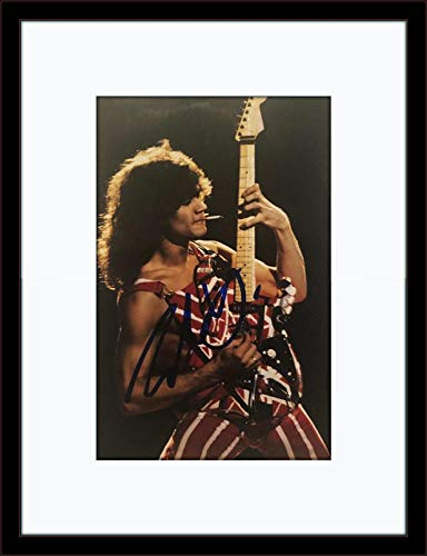 Framed Eddie Van Halen Autograph with Certificate of Authenticity ()