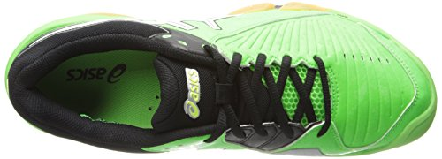 Asics Men's Gel-Domain 3 Volleyball Shoe Neon Green/White/Black amazing price online QVJjZOvE