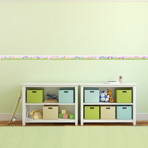 450 cm Wandkings Bord/üre S/ü/ße Einh/örner L/änge f/ürs Kinderzimmer selbstklebend