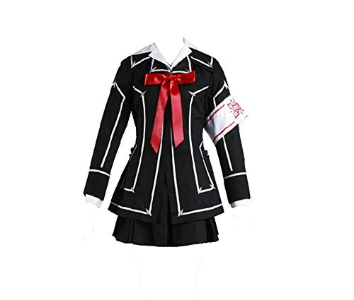 (Vampire Knight Kuran Yuki Cosplay Cross Academy Day Class Girl's School Uniform Cosplay Costume (XL) Black)