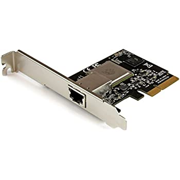 StarTech.com 1 Port PCI Express 10 Gigabit Ethernet Network Card - PCIe x4 10Gb NIC - 802.3an 10GBASE-T NIC - 10Gbps Ethernet Adapter (ST10000SPEX)