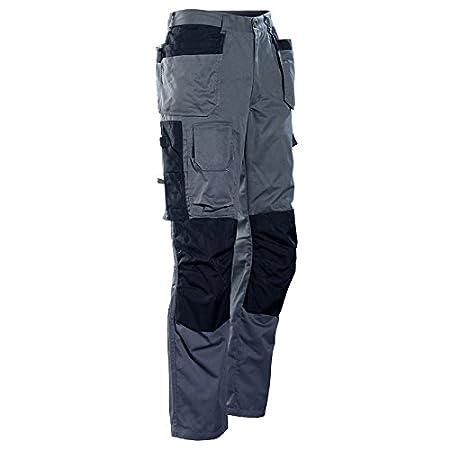 Jobman 235923 9799 D096 Size D96 Floor Layer Trousers Grey/Black B0042SFV6E