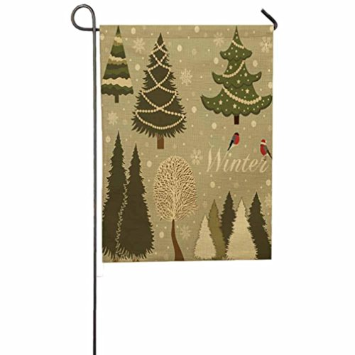 Cat Up A Tree Costume (Merry Christmas Garden Flag Indoor Outdoor Yard Flag Tree, Wreath,Snowman, Bell Reindeer and Snowflake Home Decor by Keepfit (Christmas Tree B))