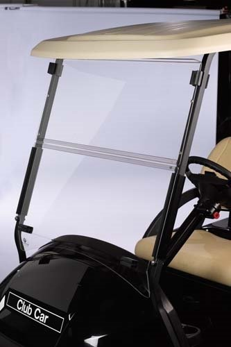Club Car Precedent Clear Fold Down Impact Resistant Windshield for CC Precedent Golf Cart INSTALLS in Minutes!