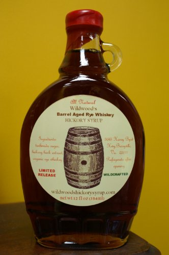 Wildwood's Barrel Aged Rye Whiskey Hickory Syrup - All Natural (Syrup Shagbark)