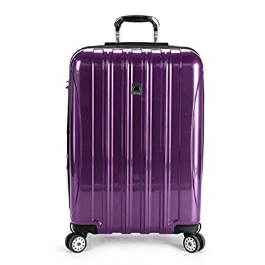 Delsey Luggage Helium Aero 25 Inch Expandable Spinner Trolley (One Size, Purple)