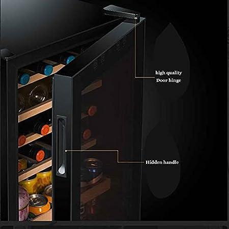 Vinotecas,compresor Frigorifico Mini Refrigerador De Vino Compacto Independiente con Control Digital con Silent Operación con Temperatura Regulable Entre 11 Y 18 °C con Iluminación LED Vinotecas